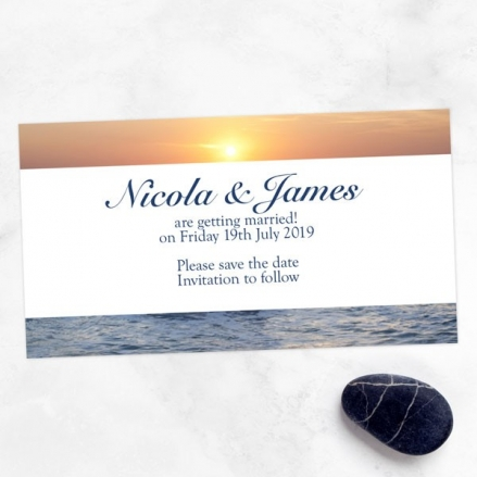 Sea Sunset - Save the Date Magnets