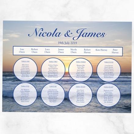 Sea Sunset - Table Plan