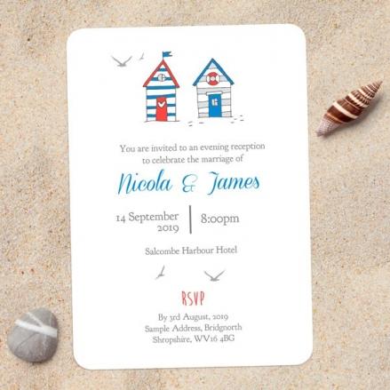 Seaside Beach Huts - Evening Invitations
