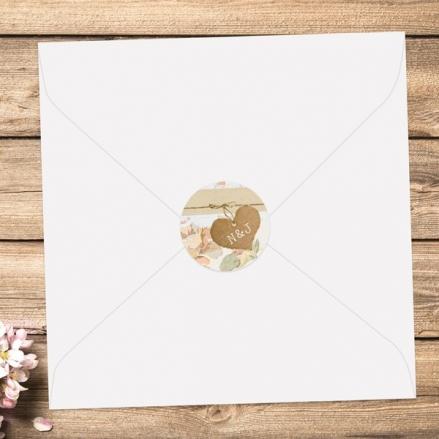 Shabby Chic Flowers - Wedding Envelope Seals