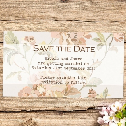Shabby Chic Flowers - Save the Date Magnets
