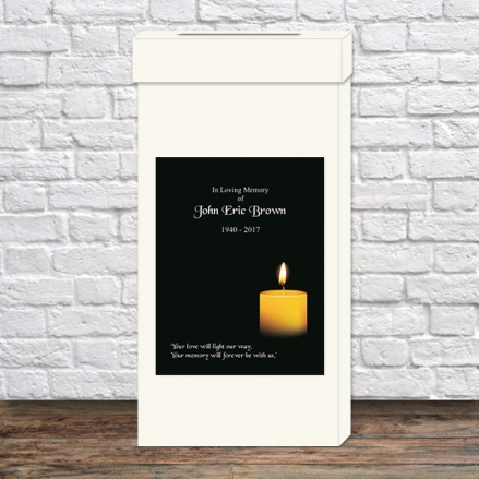 Funeral Post Box - Single Candle
