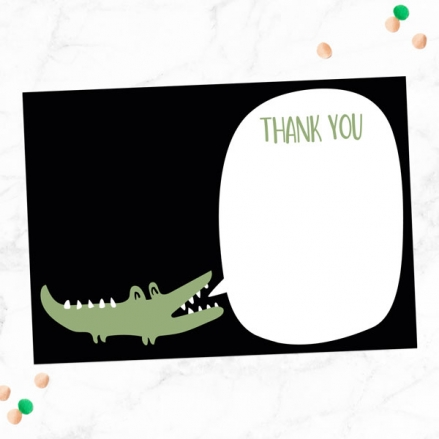 Ready to Write Kids Thank You Cards - Snappy Crocodile  - Pack of 10
