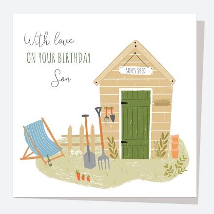 Son Birthday Card - Garden Shed - Son