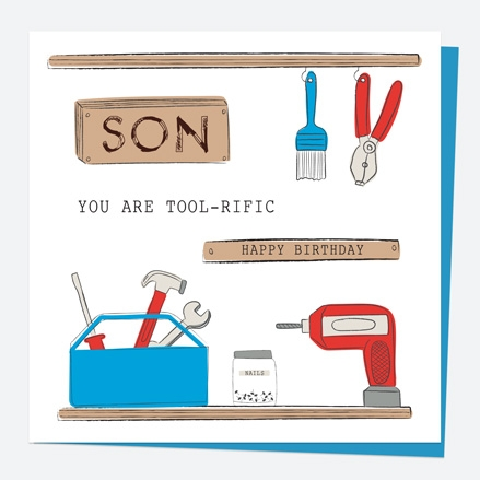 Son Birthday Card DIY Tools Tool-rific Son Thumbnail