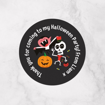 Spooky Fun - Halloween Sweet Cone Stickers - Pack of 35
