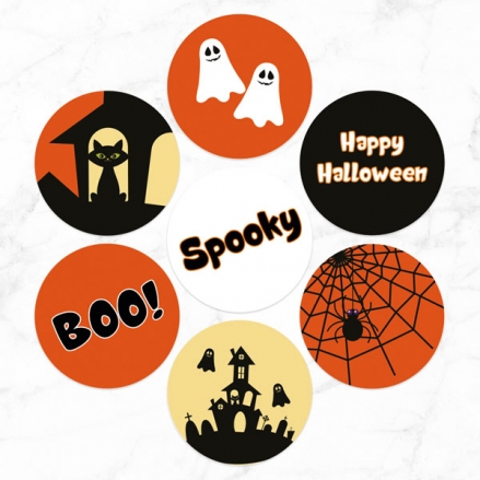 Spooky Ghosts - Halloween Stickers - Pack of 70