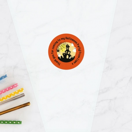 Spooky Ghosts - Halloween Sweet Cone Bag & Sticker - Pack of 35