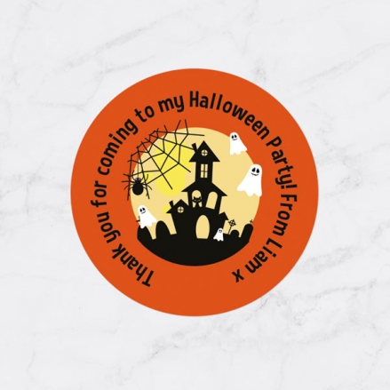 Spooky Ghosts - Halloween Sweet Cone Stickers - Pack of 35