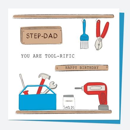 Step-Dad Birthday Card DIY Tools Tool-rific Step-Dad Thumbnail