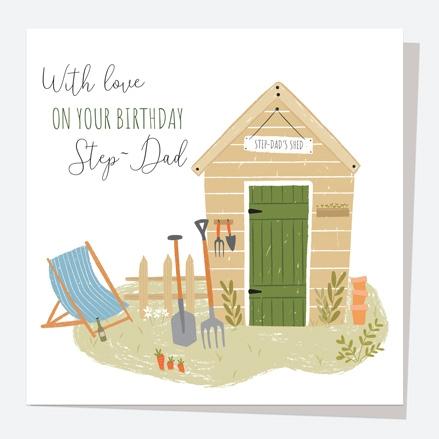 Step-Dad Card - Garden Shed - Step-Dad