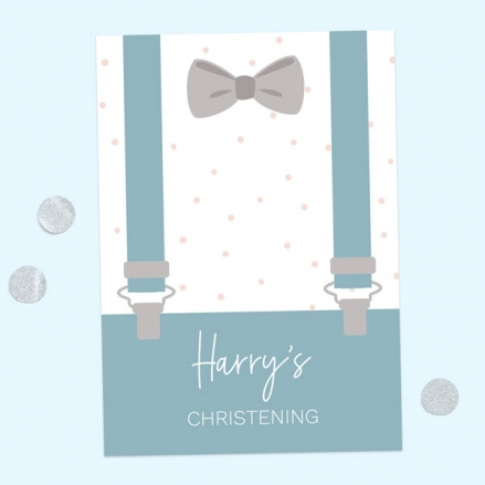 Christening Invitations - Suited & Booted - Pack of 10