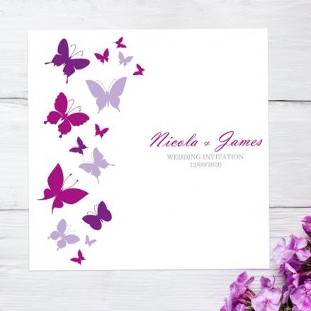 Summer Butterflies - Wedding Invitations