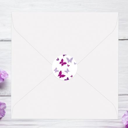 Summer Butterflies - Wedding Envelope Seals