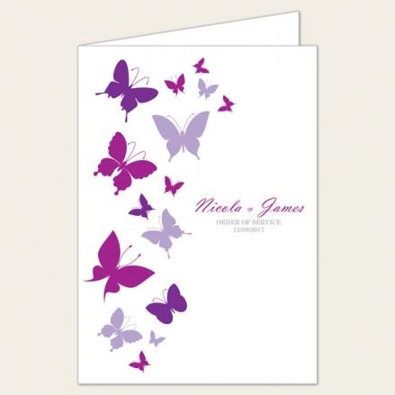 Summer Butterflies - Wedding Order of Service