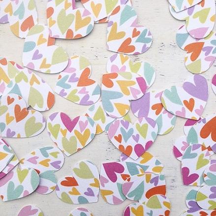 Festival Tipi - Heart Table Confetti