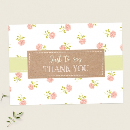 Ready to Write Thank You Cards - Summer Roses - Pack of 10