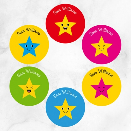 Superstars - Personalised Kids Stickers - Pack of 48