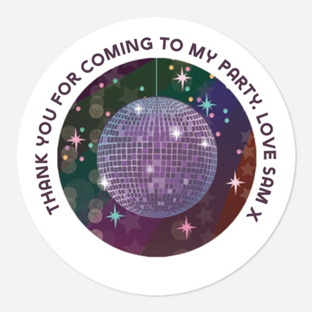 Glitter Ball Disco Party Sweet Cone Stickers thumbnail