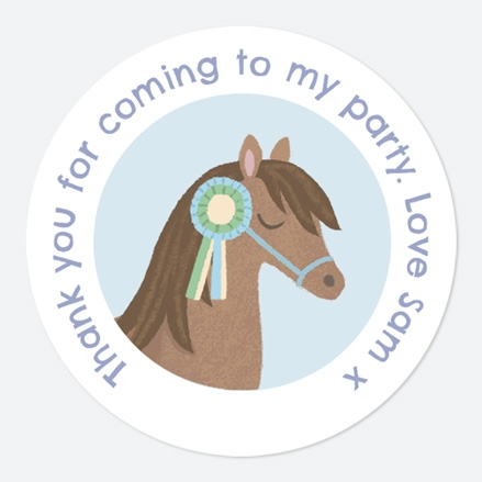 Horse Riding Stables Sweet Bag Stickers thumbnail
