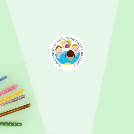 Swimming Party - Sweet Cone Bag & Sticker - Pack of 35