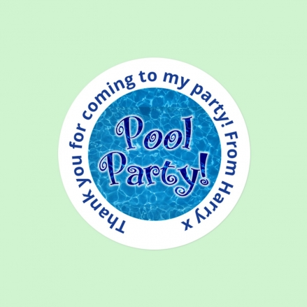 Swimming Pool Party - Sweet Bag Stickers - Pack of 35