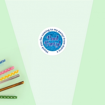 Swimming Pool Party - Sweet Cone Bag & Sticker - Pack of 35