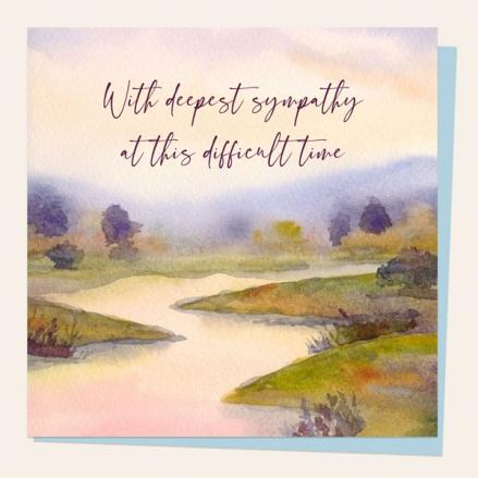 sympathy-card-watercolour-river-scene-deepest-sympathy