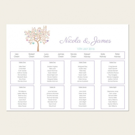 Love Tree - Table Plan