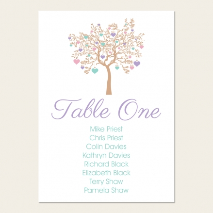 Love Tree - Table Plan Cards