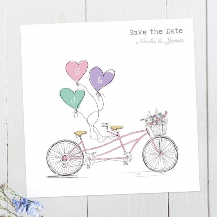 Tandem Love - Save the Date Cards