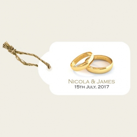 Add Your Names Gold Rings - Favour Tags