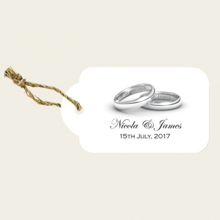 Add Your Names Silver Rings - Favour Tags