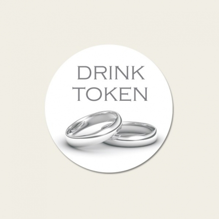Silver Rings - Drink Tokens - Pack of 30