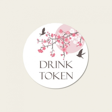 Blossoming Love - Drink Tokens - Pack of 30