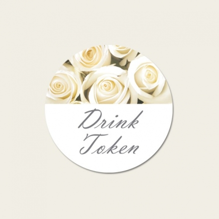 Cream English Rose - Drink Tokens - Pack of 30