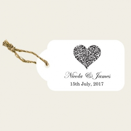 Heart Pattern - Favour Tags