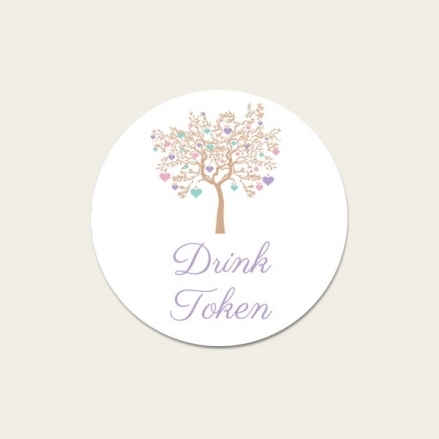 Love Tree - Drink Tokens - Pack of 30