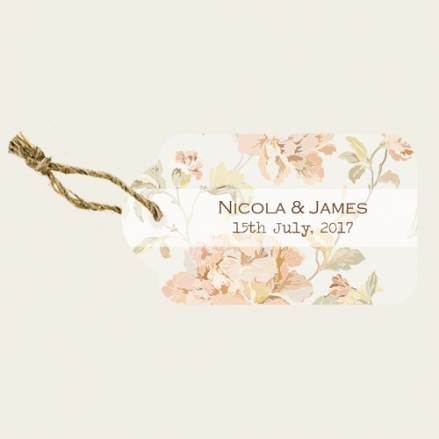 Shabby Chic Flowers - Favour Tags