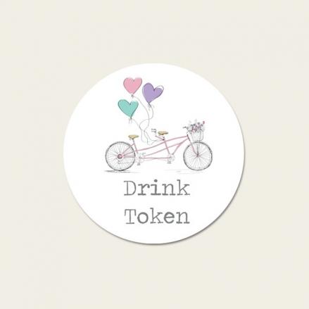 Tandem Love - Drink Tokens - Pack of 30