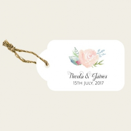 Watercolour Roses - Favour Tags