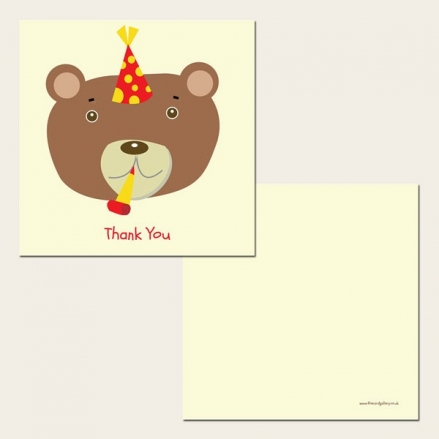 Ready to Write Kids Thank You Cards - Party Teddy Bear