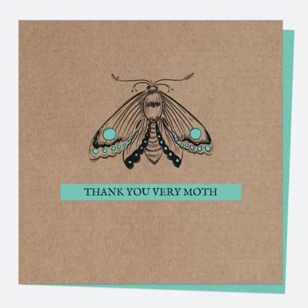 Thank You Card - Bug Love - Moth - Thank You Very Moth