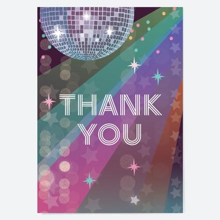 Ready to Write Kids Thank You Cards Glitter Ball Disco Party thumbnail