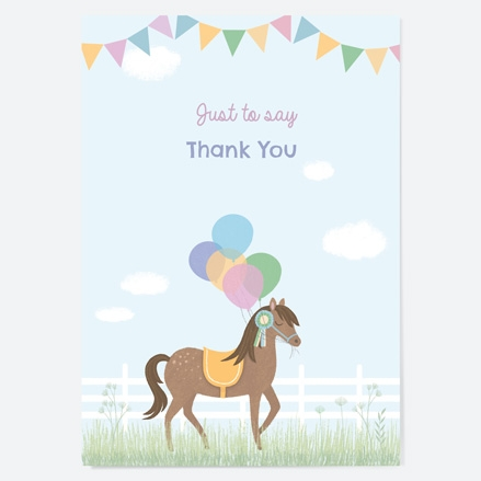Ready to Write Kids Thank You Cards Horse Riding Stables thumbnail