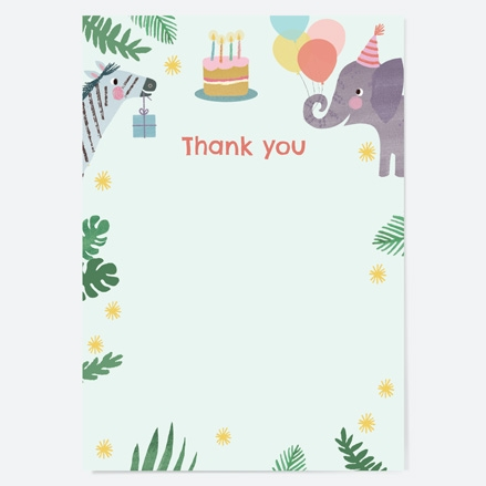 Ready to Write Kids Thank You Cards Jungle Animals thumbnail