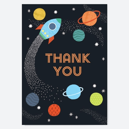 Ready to Write Kids Thank You Cards Outer Space thumbnail
