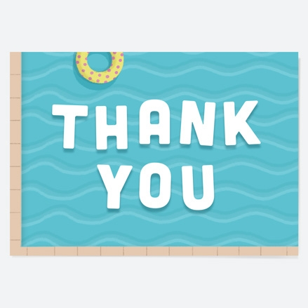Ready to Write Kids Thank You Cards Pool Party Waves thumbnail