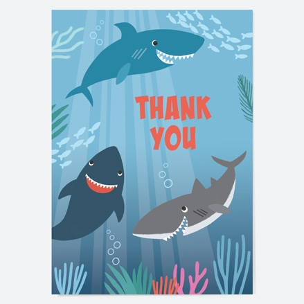 Ready to Write Kids Thank You Cards Shark thumbnail