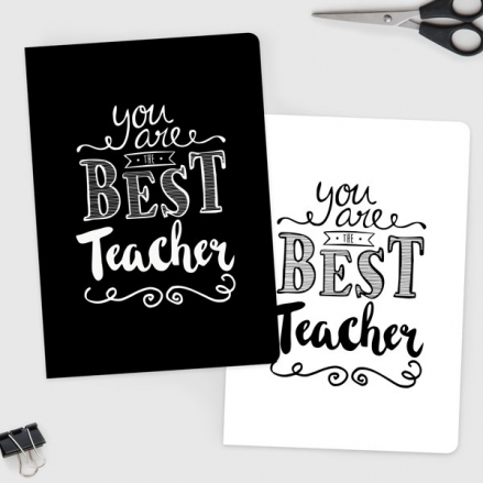 You Are The Best Typography - A5 Exercise Books - Pack of 2